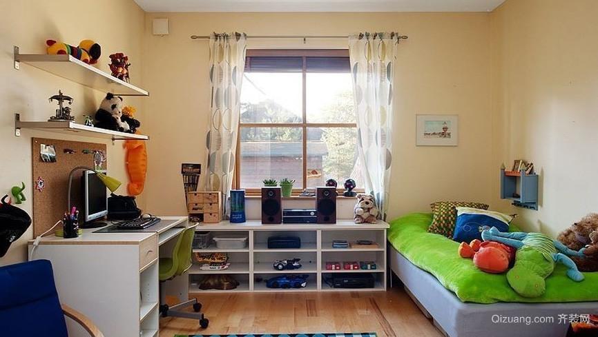 二居室现代风格儿童房设计装修效果图