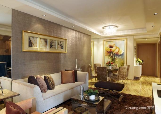 复式楼混搭风格奢华系客厅样板房装饰