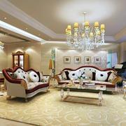 大户型家居客厅欧式沙发装修效果图片