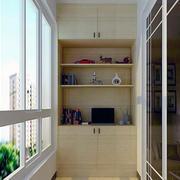 都市家庭大户型阳台装修设计效果图