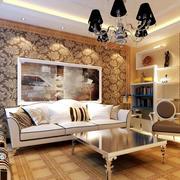 小户型简欧式客厅沙发装修效果图片