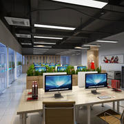 后现代风格小型办公室装修效果图