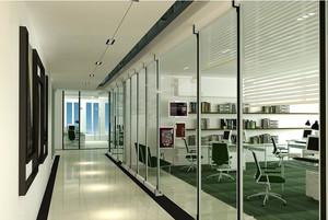大户型公司玻璃隔断墙装修设计效果图