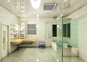 跃层简约风格卫生间装修效果图