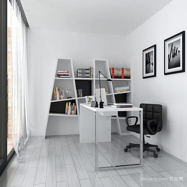 创意十足简约书房书柜设计装修效果图