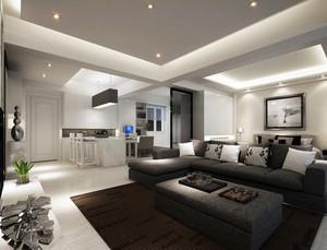 三居室清新风格客厅装修效果图