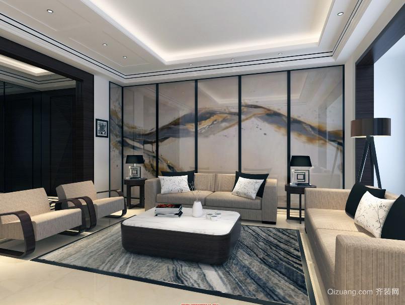 唯美大户型中式客厅装修效果图