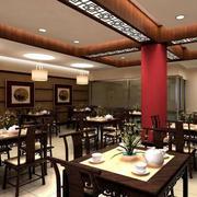 90平米中式古韵茶楼装修效果图