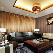 东南亚简约风格客厅样板房装修效果图