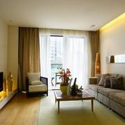 118平米简约风格客厅装修效果图