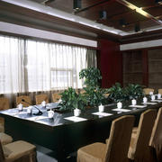 灰色调会议室效果图