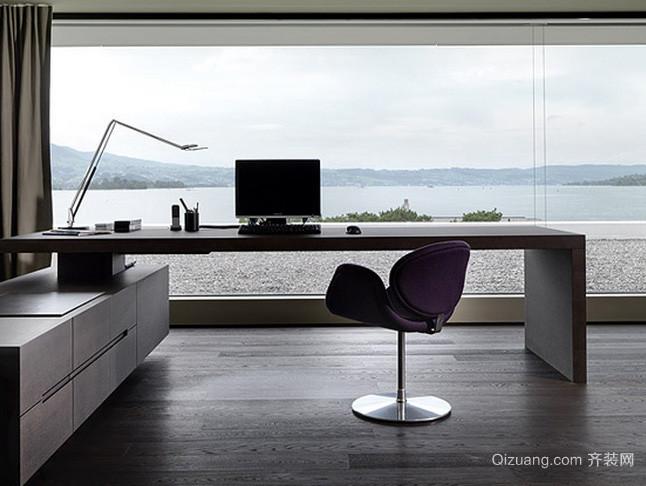别墅现代简约风格私人办公室装修图