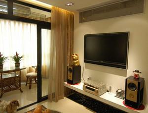 90平米简欧风格客厅样板间装修效果图