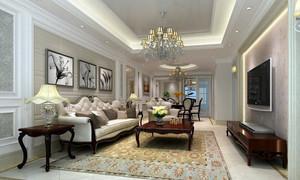 朴素典雅客厅欧式沙发装修效果图片