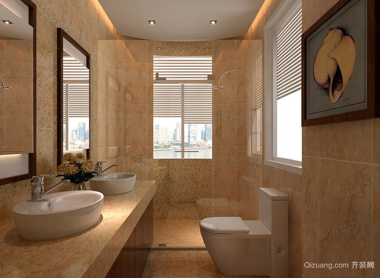 单身公寓自然风格卫生间装修效果图