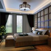 现代欧式大户型卧室背景墙装修效果图