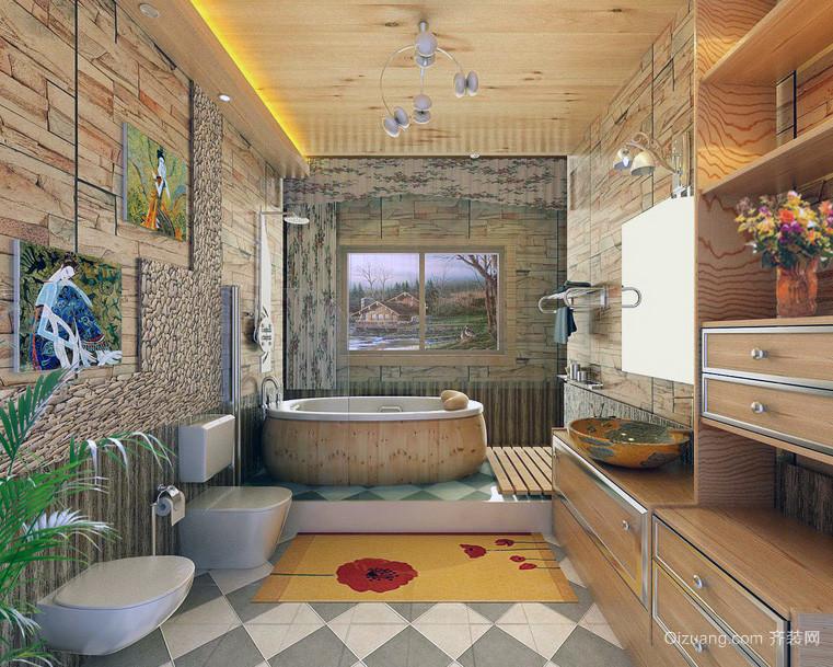 欧式三居室现代卫生间装修效果图