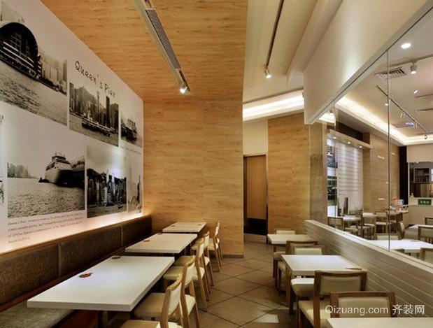 90平米快捷式现代简约风格快餐店效果图