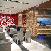 快餐店简约风格桌椅装饰