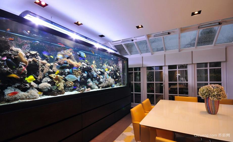 大户型别墅豪华鱼缸造景装修效果图片