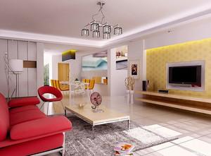 欧式大户型客厅电视背景墙装修效果图