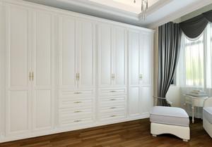 韩式优雅主卧室实木衣柜装修效果图