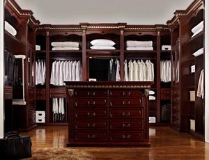 豪华大户型衣帽间实木衣柜装修效果图