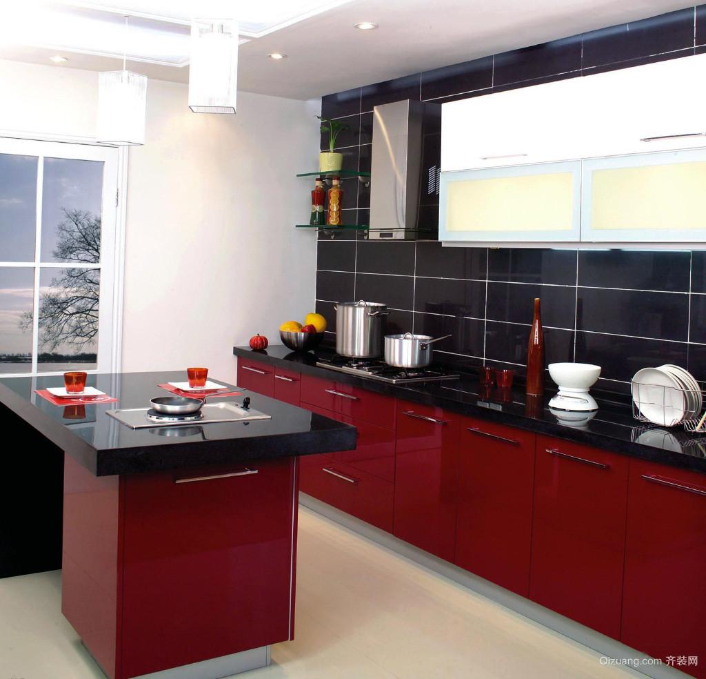 秀色可餐:大户型旖旎别墅厨房装修效果图