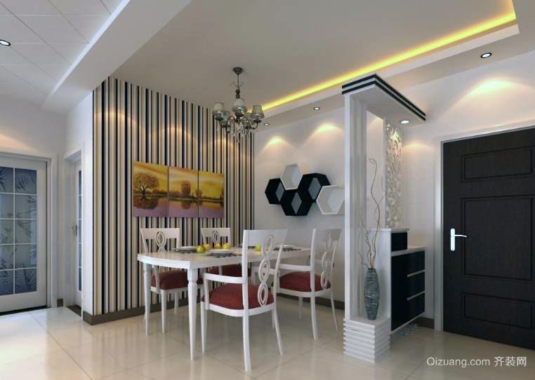 干净优雅:45平米小户型宜家餐厅装修设计图