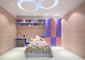 可爱儿童房简约实木小衣柜装修效果图