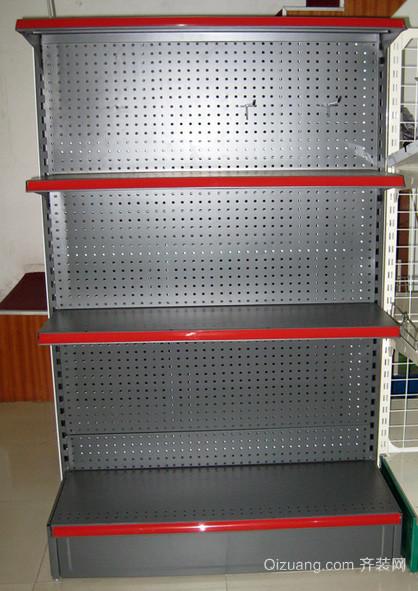 现代简约超市不锈钢货架装修效果图
