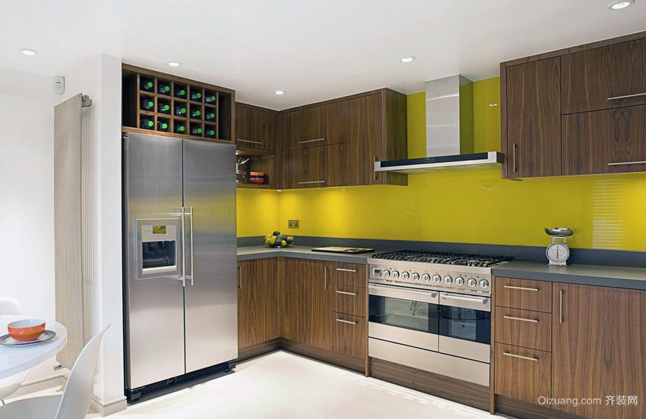 干净明丽:欧式风格复式楼厨房装修效果图