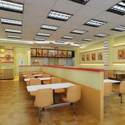 后现代风格快餐店吊顶装饰