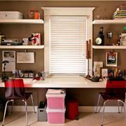 30平米书房混搭简约风格书柜装修效果图