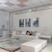 欧式大户型沙发背景墙装修效果图