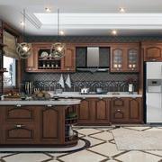现代美式风格大户型厨房装修效果图
