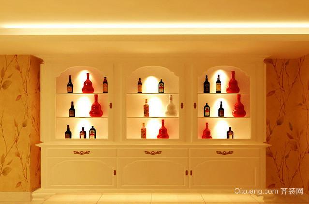 120平米浪漫型酒柜装修效果图