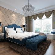 简欧风格小户型卧室背景墙装修效果图