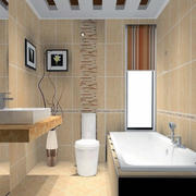 现代欧式大户型卫生间装修效果图