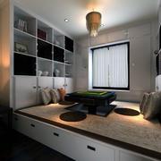 大户型现代日式风格榻榻米床装修效果图