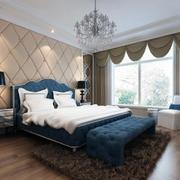 唯美大户型简欧卧室背景墙装修效果图