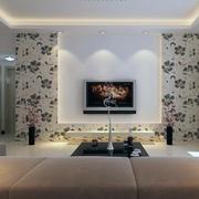 唯美欧式大户型电视背景墙装修效果图
