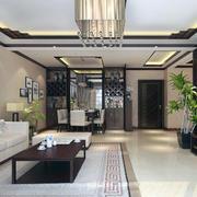 舒适大方的大户型中式客厅装修效果图