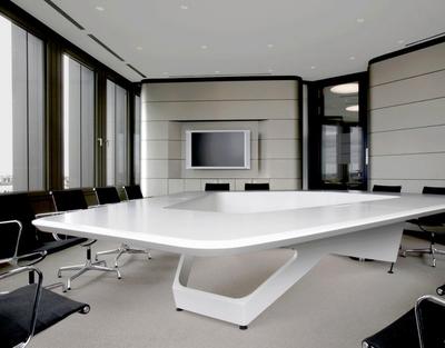 现代简约风格小型会议室背景墙装修效果图