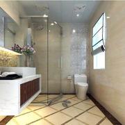 现代简约大户型洗手间装修效果图