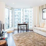 90平米北欧风格清新客厅地毯装修效果图