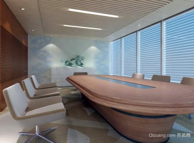 简约风格都市时尚会议室椭圆形桌椅装饰