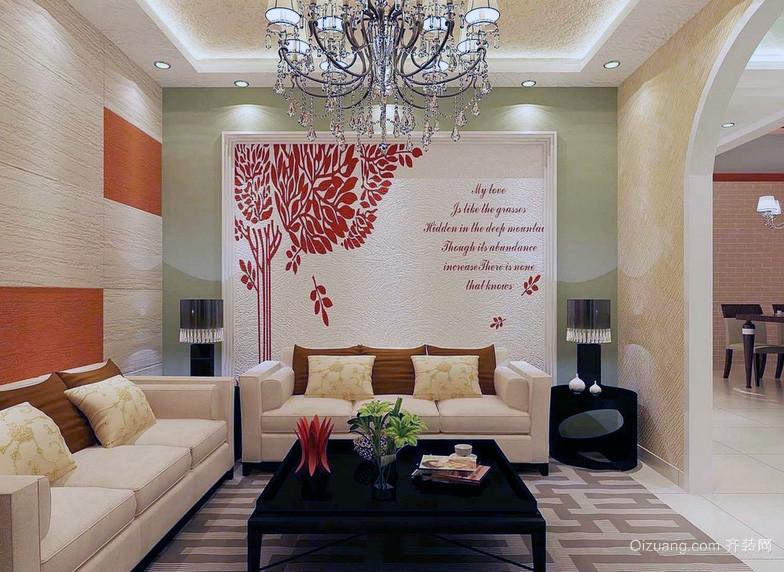 欧式别墅型现代沙发背景墙装修效果图