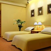 简约风格宾馆床头背景墙装饰
