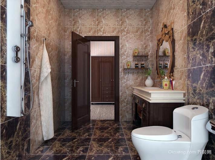 都市现代美式洗手间瓷砖装修效果图